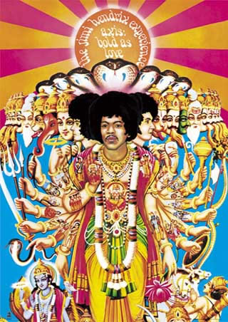 Jimi Hendrix Experience《Axis: Bold as Love》(1967)のアルバムジャケット〔部分〕
